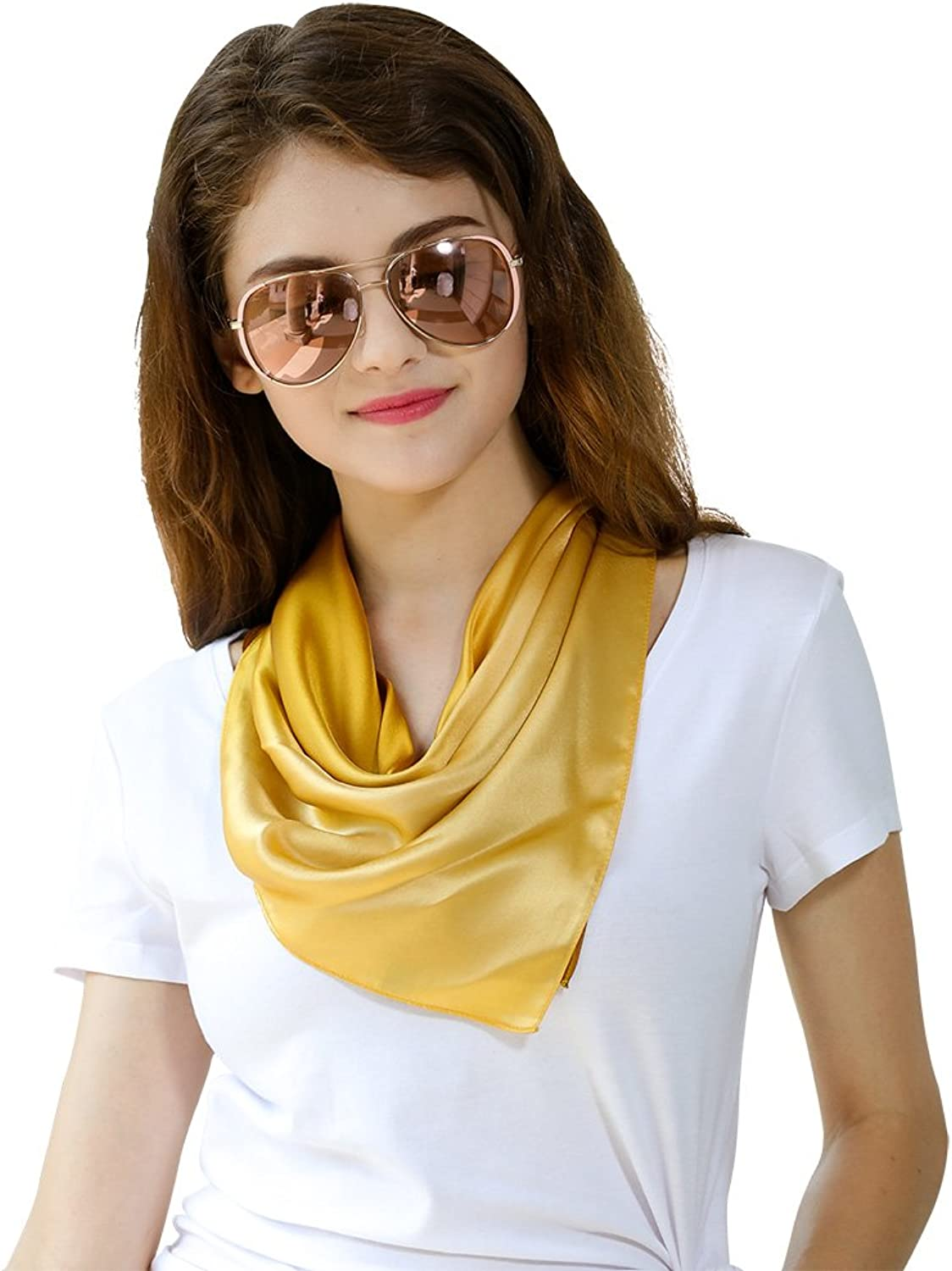 STORY OF SHANGHAI Womens Small Square Scarf Ladies Silk Satin Hair Wrapping 182305058
