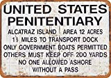 Bilingo Alcatraz Prison VintageVintage Metall Zinn Wand