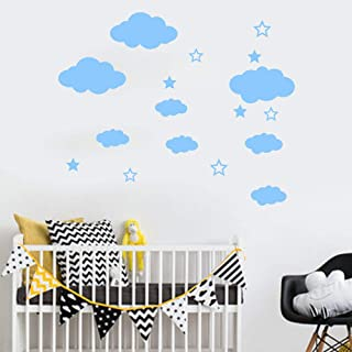 WOCACHI Wall Stickers Decals DIY Clouds Wall Decals Children's Room Home Decoration Art Art Mural Wallpaper Peel & Stick Removable Room Decoration Nursery Decor