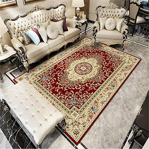 WQ-BBB Alfombra Infantil Insonorizar Diseño de patrón Rojo marrón en Estilo Tradicional con decoración de Borde Habitacións Alfombraes 160X230cm