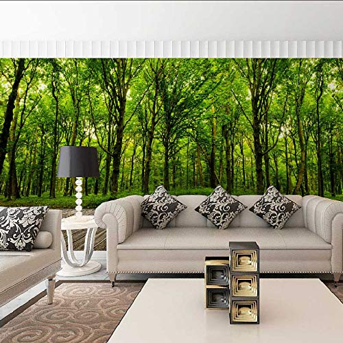 Cczxfcc, grote natuur-bos-ansichtkaarten, foto-wandkunst, 3D-wanddecoratie 300 x 210 cm.