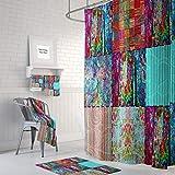 565pir Boho Chic Cortina de Ducha baño Gypsy Blocks Abstracto