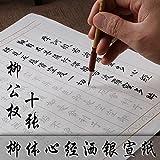 Libro de caligrafía china, hojas de rastreo, libro de sutra de corazón, 10 hojas