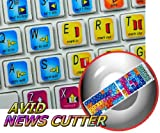 4Keyboard New AVID News Cutter Keyboard Stickers for Desktop, Laptop and Notebook
