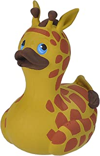 """Wild Republic Rubber Duck, Gifts for Kids, Bath Toys, Mould Free Pool Toys, Giraffe, 4"""""""