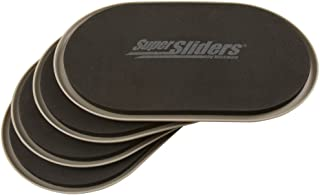 "SuperSliders 4704095N Reusable XL Heavy Furniture Sliders for Carpet- Quickly and Easily Move Any Item, 9-1/2"" x 5-3/4"" Linen (4 Pack)"