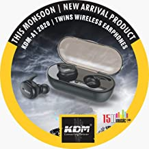 KDM A1 2020 TWS Wireless Earphone Ear Buds with 15H Music time Black