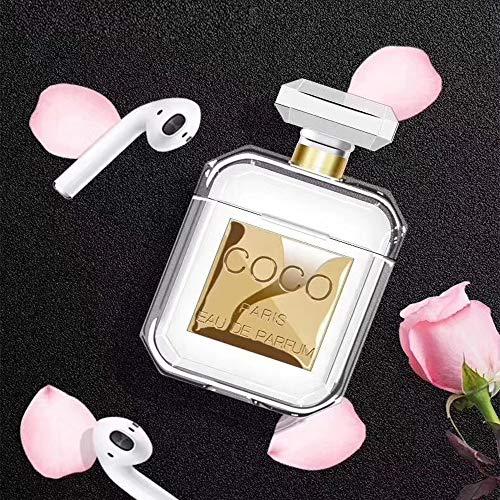 Fundisinn 2019 - Funda para Botella de Perfume (Silicona, a Prueba de Golpes, con Bolsa de Almacenamiento), diseño Fascinante para niñas y Mujeres