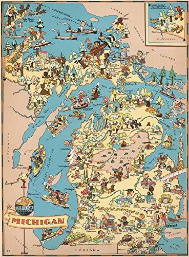 500-Teiliges Puzzle Für Erwachsene Holzpuzzles - Michigan Map - Sehr Gutes Lernspiel