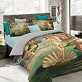 Italian Bed Linen Parure Copripiumino con Stampa Digitale a Copertura Totale Sul Sacco e Sulle Federe 2 Posti 100% Cotone, Multicolore (SD56), 250x200x1 cm