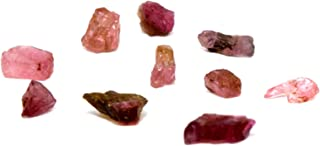 3.5 Carat Green Pink Watermelon Tourmaline Rough Natural Crystal Cab Rubellite Mineral Gemstone Cabochon - Afghanistan - 10PCS