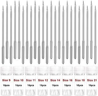 80本 ミシン針 セット 8サイズ ミシン針 薄生地 中厚地 厚生地 家庭用ミシン針 縫製マシンニードル 手芸用品 手作り 洋裁 説明書 収納ケース付け