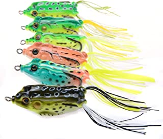 A-SZCXTOP Hollow Soft Frog Bait Topwater Fishing Lures Swimbait for Bass Snakehead Saltwater Freshwater Fishing 5.5cm 13.7g