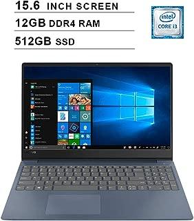 2019 Lenovo Newest Preimum Ideapad 330s 15.6 Inch Laptop (Intel Dual Core i3-8130U up to 3.40GHz, 12GB DDR4 RAM, 512GB SSD, Intel UHD 620, WiFi, Bluetooth, HDMI, Windows 10, Blue)