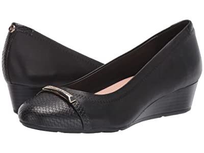 Taryn Rose Pearl (Black Nappa/Snake) Women