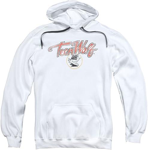 Teen Wolf - Sweat-Shirt à Capuche - Manches Longues - Opaque - Homme Blanc Blanc