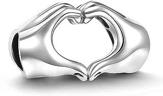 925 Sterling Silver Love Heart Charm Bead Fit Pandora Bracelets