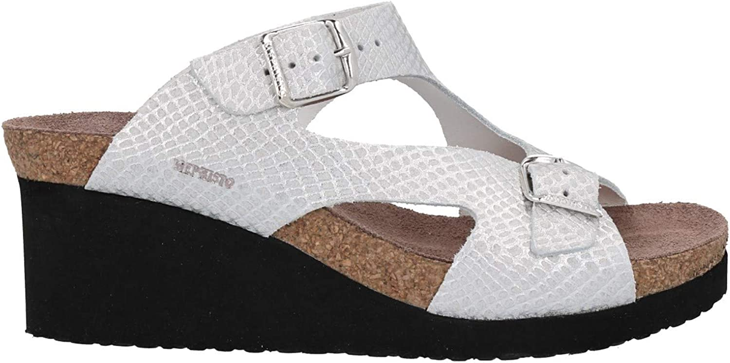 MEPHISTO shoes women sandals TERIE WHITE   SILVER