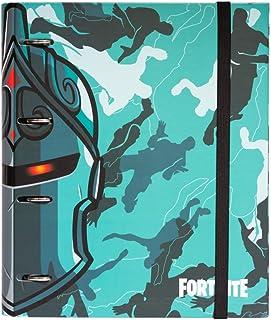 Grupo Erik - Classeur A4 4 Anneaux - Fortnite Bleu, Classeur Rigide, Fournitures Scolaires, Fournitures de Bureau CAT0064