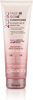 Giovanni 2chic Frizz Be Gone Shea Butter & Sweet Almond Oil Conditioner, 8.5 Ounce