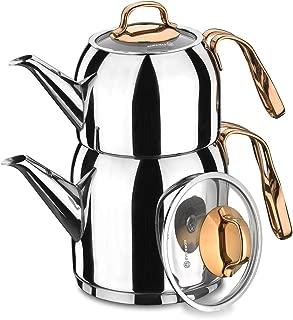 Korkmaz électrique semaver turc Théière teamaker Tea machine Bouilloire caydanlık