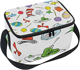 Kid's Lunch Box Premium Thermal Insulated Dr Seuss Cat in The Hat Lorax Lunch Bag Organizer Lunch Container for Picnic, Boating, Beach, Fishing, School, Work