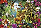 Buffalo Games - Amazing Nature Collection - Jungle Discovery - 500 Piece Jigsaw Puzzle Multicolor, 21.25'L X 15'W