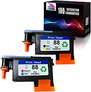Jalada 2 Pack HP88 Printhead C9381A C9382A for HP Officejet Pro K5400 L7480 L7500 L7550 L7580 L7590 L7650 L7680 L7710 L7750 L7780 L7790 Printer