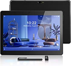 10.1 Pulgadas Tablet Android 8.1, CPU de Cuatro Núcleos, Doble Tarjeta SIM, 2GB+64GB, IPS HD(1280 x 800), 3G Tablet PC con Dos Ranuras para Tarjetas SIM, WiFi/Bluetooth/GPS/OTG (Black)