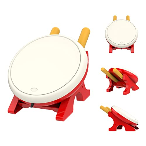 MoKo Drum Controller for Nintendo Switch, Drum Sticks Controller Set for Nintendo Switch Motion Sensing Game Taiko Drum Master Accessories for N- Switch Version – Red + White