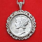 US 1944 Mercury Dimes 90% Silver AU Coin...