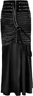 Women's Steampunk Gothic Victorian Ruffled Satin High Waisted Skirts