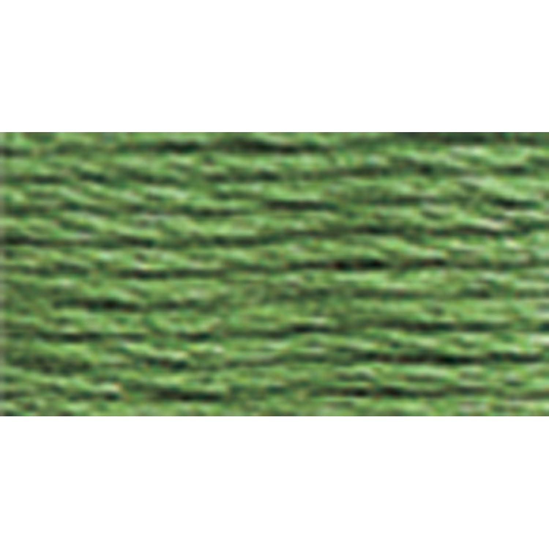 DMC 117-320 Mouline Stranded Cotton Six Strand Embroidery Floss Thread, Medium Pistachio Green, 8.7-Yard
