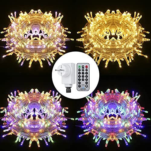 Tomshine Fairy Lights Plug in 23m 200LEDs Multicolor Changing String Lights with Remote Control & Timer Function, Decorations for Outdoor, Indoor, Bedroom, Garden, Wedding