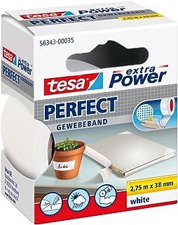 tesa extra Power Perfect - Ruban Adhésif Toilé - Ruban de Réparation pour Artisanat, Fixation, Renforcement et Étiquetage...