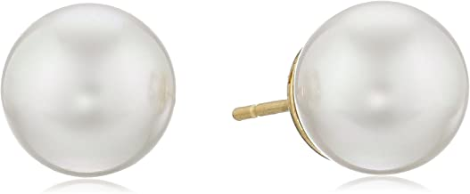 Majorica 10mm Champagne  Pearl Stud Earrings