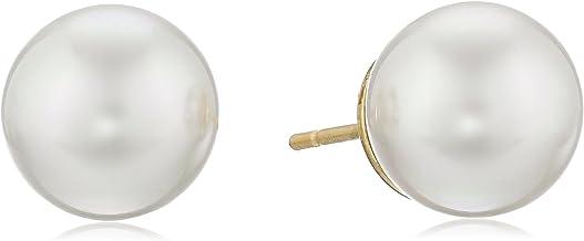 Majorica 10mm Champagne Pearl Stud Earrings