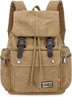 Bageek Canvas Backpack Large Capacity Casual Drawstring School Backpack Travel Backpack for Boy