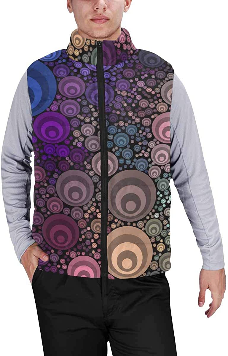 InterestPrint Men's Casual Sleeveless Coats with Personality Design Color Donate