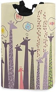 CaTaKu Panier à linge pour girafe Zoo Girafe Grande boîte de rangement étanche facile à transporter pour dortoir familial,...