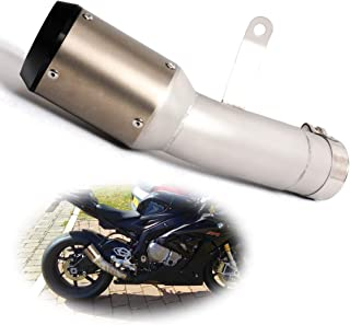 ZAIXU Motorcycle Exhaust System Mid-pipe Slip on Link Tube with Muffler for 2015 2016 BMW S1000RR S1000 RR 15 16
