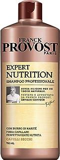 Franck Provost Shampoo Professionale Expert Nutrition con Burro di Karité per Capelli Nutriti, 750ml