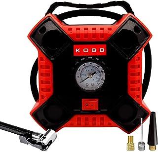 KOBB KB100 12Volt 160 PSI Analog Göstergeli Hava Pompası, Kırmızı/Siyah