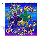 XXzhang Einzigartiger Karneval Psycadelic Duschvorhang Dekorativer Stoff für Badezimmer Polyester Duschvorhänge für Badezimmer mit Haken-180x180cm