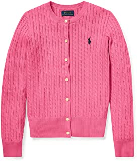Little Girl's Cable-Knit Cardigan, Pink