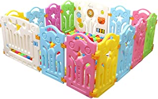 Baby Playpen Safety Fence Hearth Gate Puzzle and Fun Baby Playpen, Kid Play Zone(No balls)