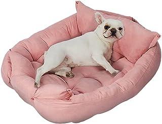 PaWz Pet Bed 2 Way Use Dog Cat Soft Warm Calming Mat Sleeping Kennel Sofa Pink M