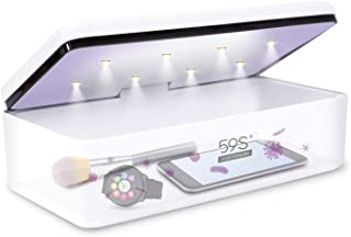 UV Light Sanitizer Box, UVC Sterilizer for Smartphone, Nail Art Make up Tools, Clinically Proven Kills 99.9% of Germs Viruses & Bacteria in 180 Seconds 8 UV-C LED 59S S2