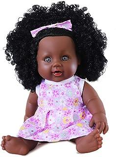 JTYX DOLLS 11.8 inch Simulation Baby Soft Vinyl Black Reborth Doll Newborn Playmate Children Birthday Gifts Toy Washable