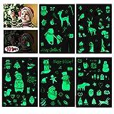 HOWAF Weihnachts kindertattoos Set, 101 x im Dunkeln leuchten Temporäre Tattoos für Mädchen Jungen Spielen Kinder Weihnachts Geschenktüten Weihnachts Party Kindergeburtstag Mitgebsel -